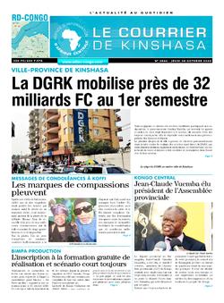 Les Dépêches de Brazzaville : Édition brazzaville du 08 octobre 2020