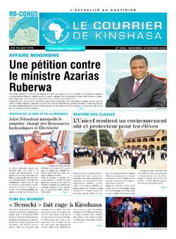 Les Dépêches de Brazzaville : Édition brazzaville du 14 octobre 2020