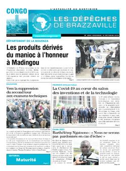 Les Dépêches de Brazzaville : Édition brazzaville du 16 octobre 2020