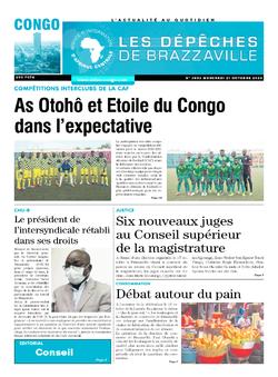 Les Dépêches de Brazzaville : Édition brazzaville du 21 octobre 2020