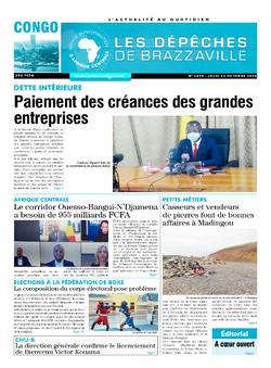 Les Dépêches de Brazzaville : Édition brazzaville du 22 octobre 2020