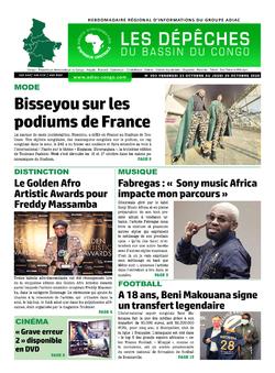 Les Dépêches de Brazzaville : Édition du 6e jour du 24 octobre 2020