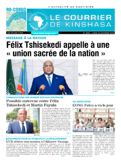 Les Dépêches de Brazzaville : Édition brazzaville du 26 octobre 2020