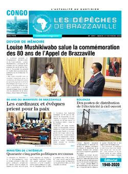 Les Dépêches de Brazzaville : Édition brazzaville du 27 octobre 2020