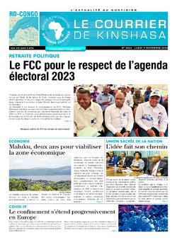 Les Dépêches de Brazzaville : Édition brazzaville du 09 novembre 2020