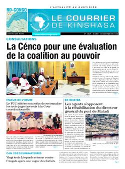Les Dépêches de Brazzaville : Édition brazzaville du 10 novembre 2020