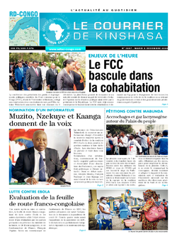 Les Dépêches de Brazzaville : Édition brazzaville du 08 décembre 2020