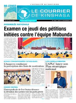 Les Dépêches de Brazzaville : Édition brazzaville du 10 décembre 2020