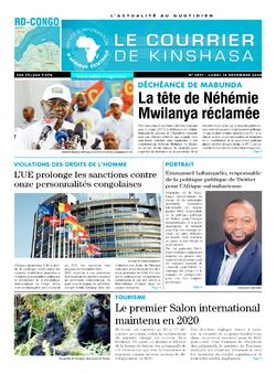 Les Dépêches de Brazzaville : Édition brazzaville du 14 décembre 2020