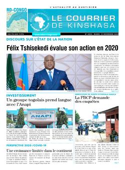Les Dépêches de Brazzaville : Édition brazzaville du 15 décembre 2020