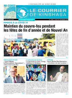 Les Dépêches de Brazzaville : Édition brazzaville du 24 décembre 2020