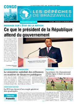 Les Dépêches de Brazzaville : Édition brazzaville du 30 décembre 2020