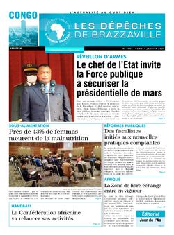 Les Dépêches de Brazzaville : Édition brazzaville du 04 janvier 2021