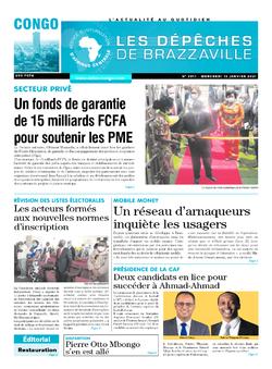 Les Dépêches de Brazzaville : Édition brazzaville du 13 janvier 2021