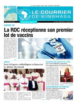 Les Dépêches de Brazzaville : Édition brazzaville du 03 mars 2021