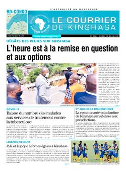Les Dépêches de Brazzaville : Édition brazzaville du 29 mars 2021
