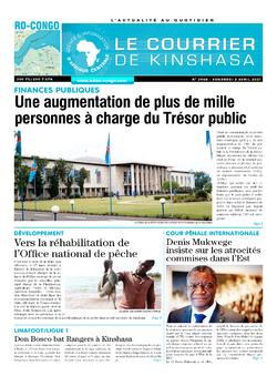 Les Dépêches de Brazzaville : Édition brazzaville du 02 avril 2021