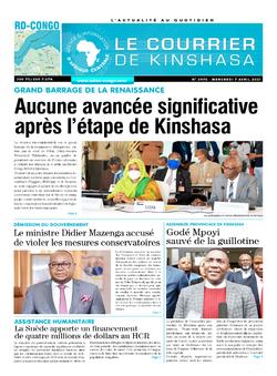 Les Dépêches de Brazzaville : Édition brazzaville du 07 avril 2021
