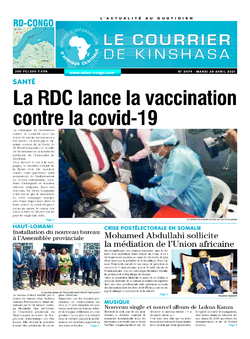 Les Dépêches de Brazzaville : Édition brazzaville du 20 avril 2021