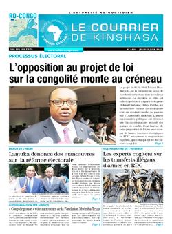 Les Dépêches de Brazzaville : Édition brazzaville du 03 juin 2021