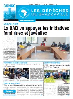 Les Dépêches de Brazzaville : Édition brazzaville du 08 juin 2021