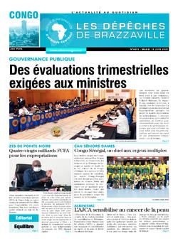 Les Dépêches de Brazzaville : Édition brazzaville du 15 juin 2021