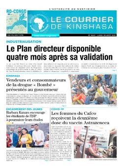Les Dépêches de Brazzaville : Édition brazzaville du 30 août 2021