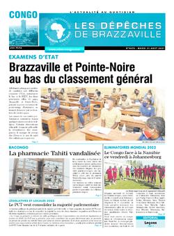 Les Dépêches de Brazzaville : Édition brazzaville du 31 août 2021