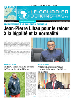 Les Dépêches de Brazzaville : Édition brazzaville du 02 septembre 2021