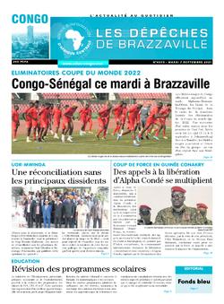 Les Dépêches de Brazzaville : Édition brazzaville du 07 septembre 2021