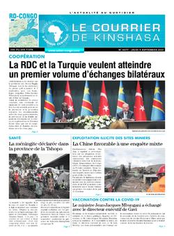 Les Dépêches de Brazzaville : Édition brazzaville du 09 septembre 2021