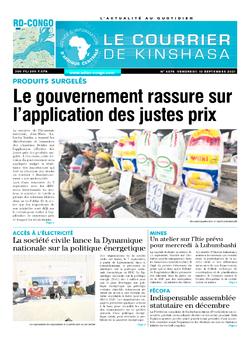 Les Dépêches de Brazzaville : Édition brazzaville du 10 septembre 2021